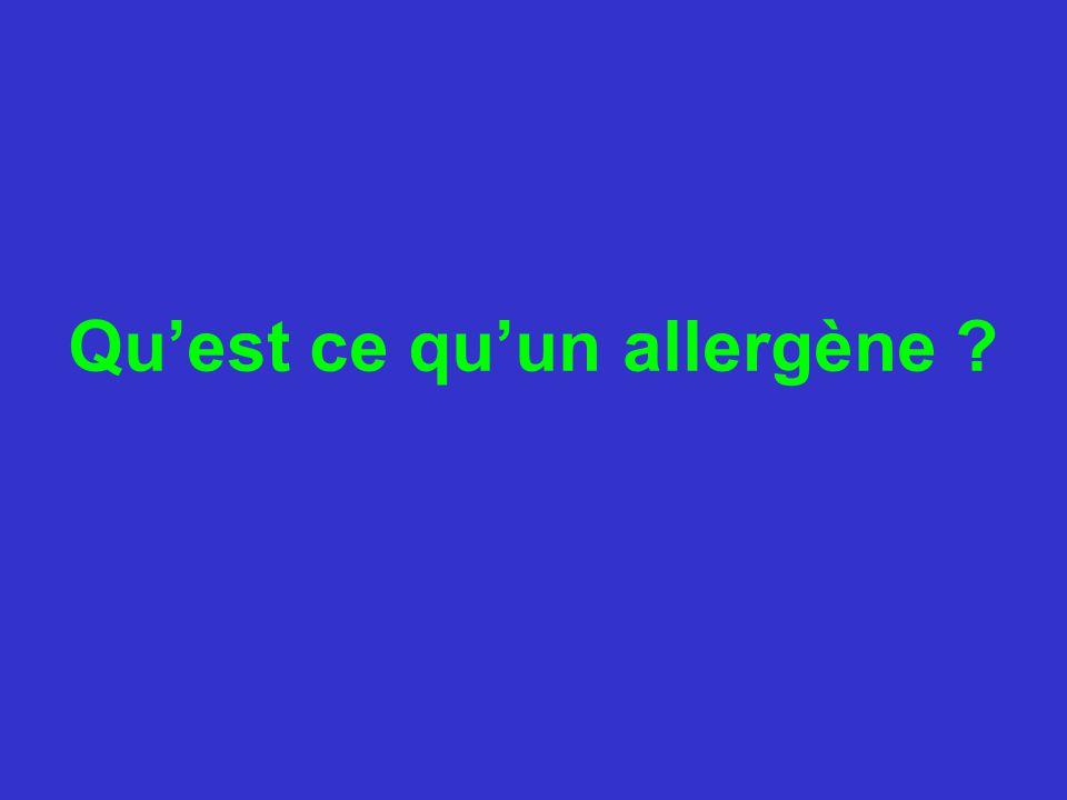 EXAMENS BIOLOGIQUES Dosages d'IgE Spécifiques sériques dirigées contre différents allergènes responsables d'allergies: - respiratoires - alimentaires