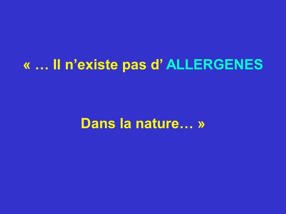 Tout immunogène devient allergène lorsque sont associés des facteurs génétiques individuels à certaines conditions de stimulation antigénique, modulée