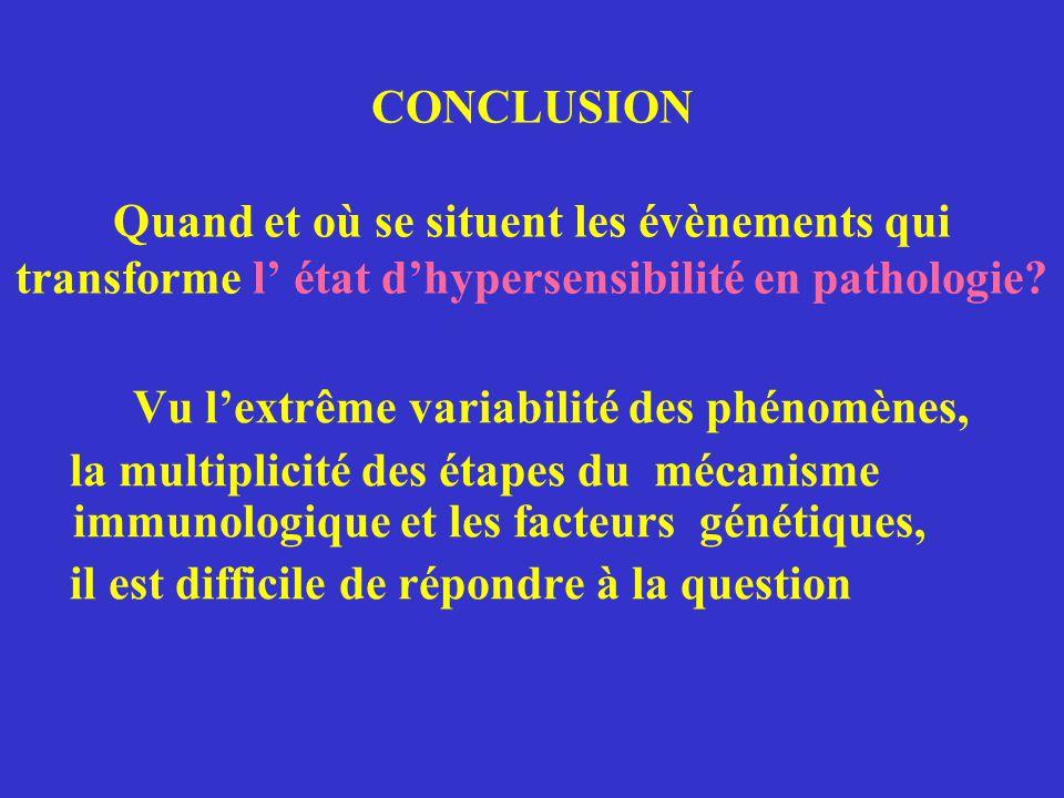 L'Allergie et les Maladies Allergiques En résumé, l'expression pathologique de l'allergie par deux mécanismes très précis L'hypersensibilité retardée