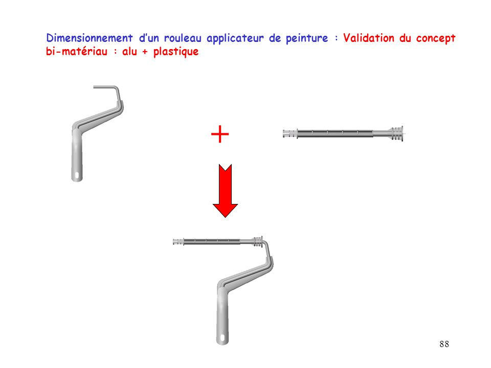 88 Dimensionnement d'un rouleau applicateur de peinture : Validation du concept bi-matériau : alu + plastique +