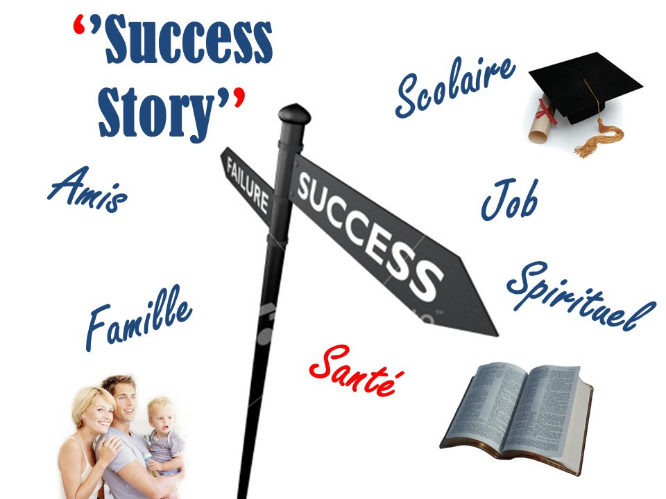 ''Success Story'' Scolaire Santé Spirituel Amis Famille Job