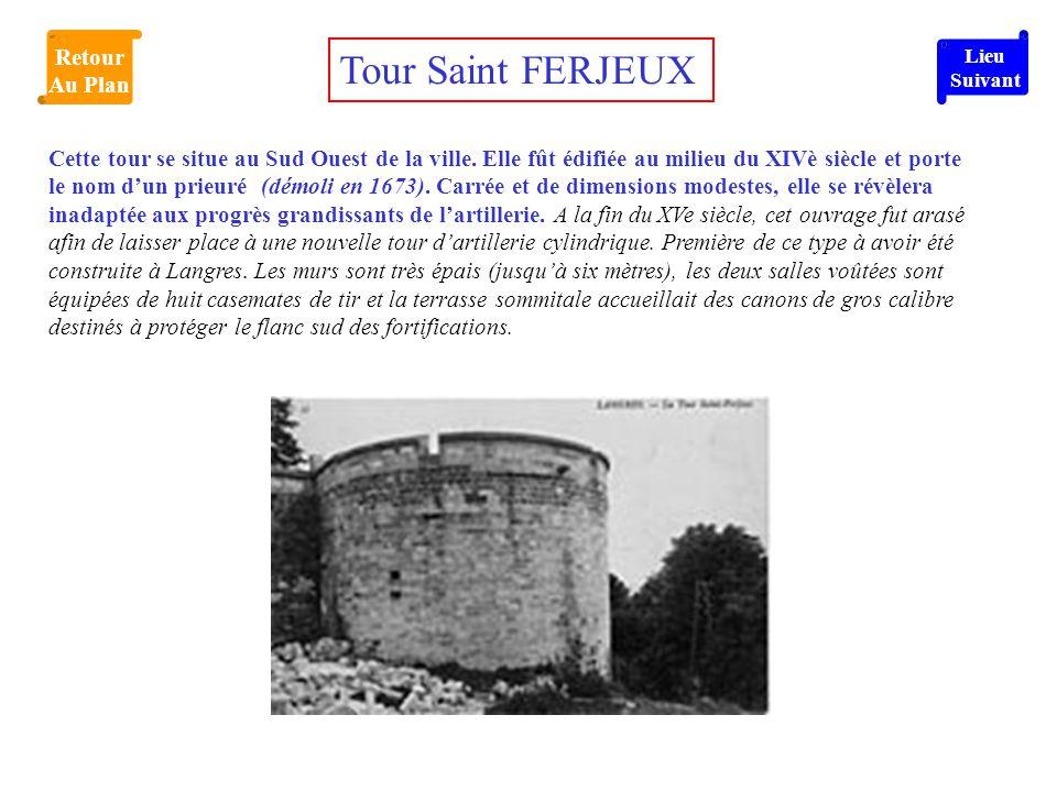 Cette tour se situe au Sud Ouest de la ville. Elle fût édifiée au milieu du XIVè siècle et porte le nom d'un prieuré (démoli en 1673). Carrée et de di