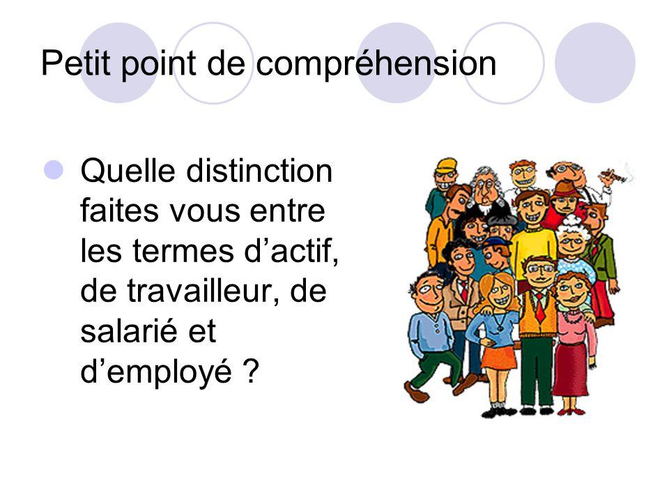 Principes de construction Quelle est la distinction principale qui est faite au sein des employés ? L'employeur : public / privé Qu'est-ce qui justifi