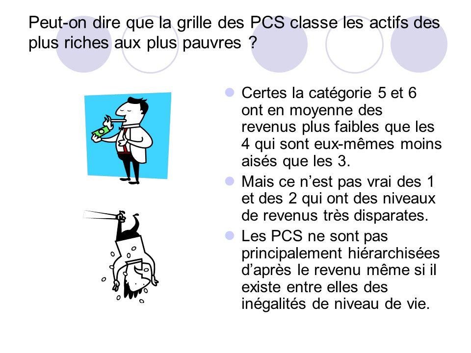 Dans quel but la nomenclature des PCS est-elle ainsi conçue ? (Questions sur le document) Le terme même de catégories socioprofessionnelles est révéla