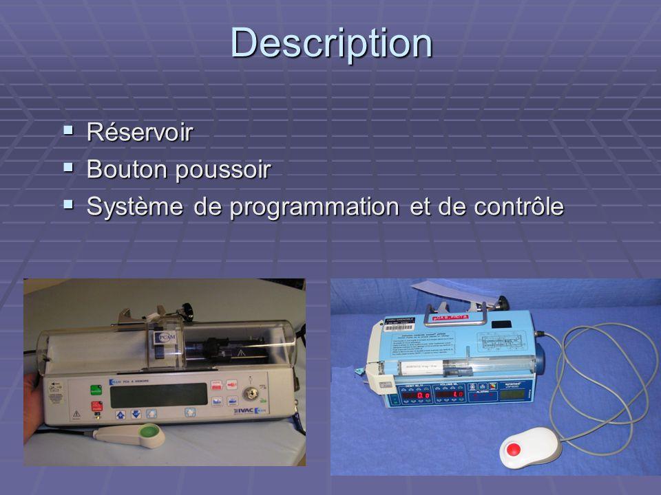 Description  Réservoir  Bouton poussoir  Système de programmation et de contrôle