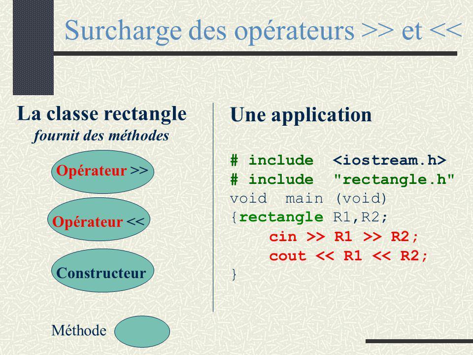 Surcharge de l 'opérateur + vecteur vecteur:: operator + (const vecteur& B) { vecteur somme; if (taille==B.taille) { somme.taille=taille; for (int i=0; i<taille;i+=1) somme.t[i]=t[i]+B.t[i]; } return somme; }