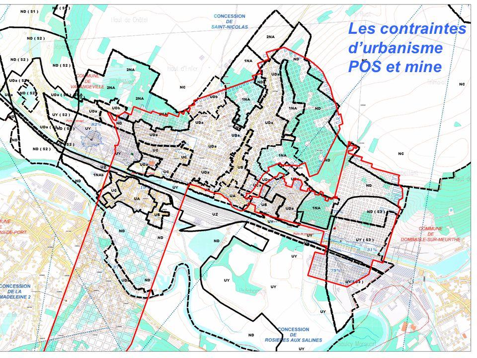 Les contraintes d'urbanisme POS et mine