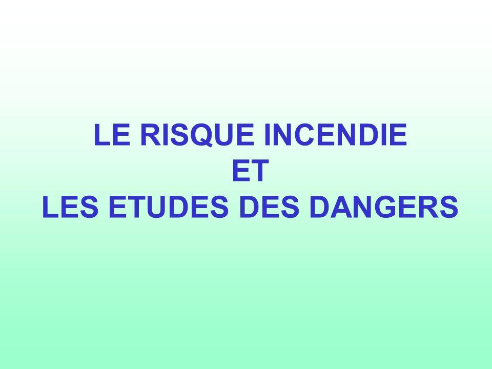 LE RISQUE INCENDIE ET LES ETUDES DES DANGERS
