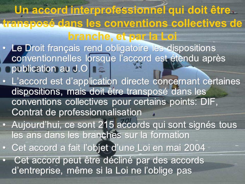 Un accord interprofessionnel qui doit être transposé dans les conventions collectives de branche, et par la Loi