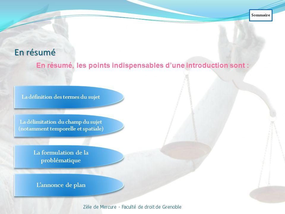 4. Problématique ou ligne de démonstration L'analyse du sujet a fait apparaître la ou les questions soulevées par le sujet, le ou les problèmes qu'il