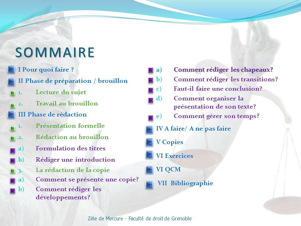 Zèle de Mercure - Faculté de droit de Grenoble
