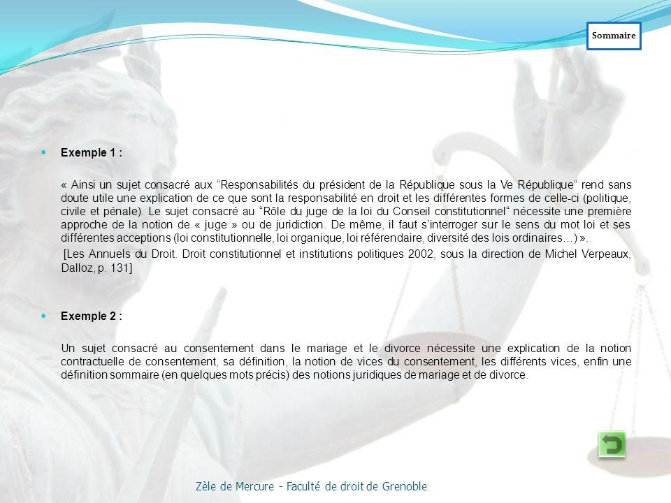 Exemples : - Le rôle du Parlement est essentiel sous les Troisième et Quatrième Républiques, tant du point de vue de l'élaboration de la Loi (I) que d