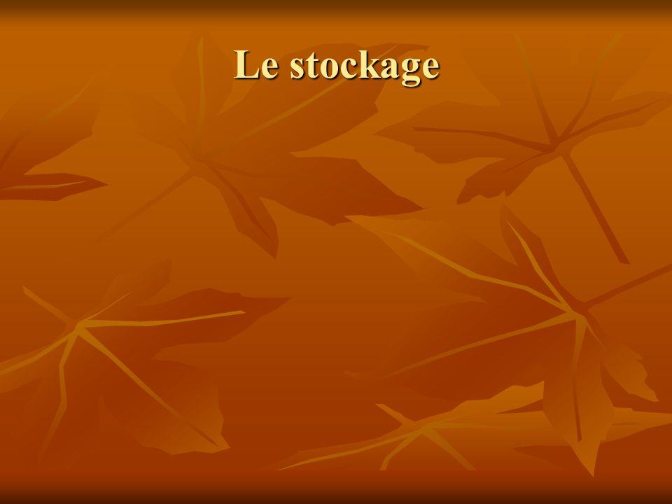 Le stockage