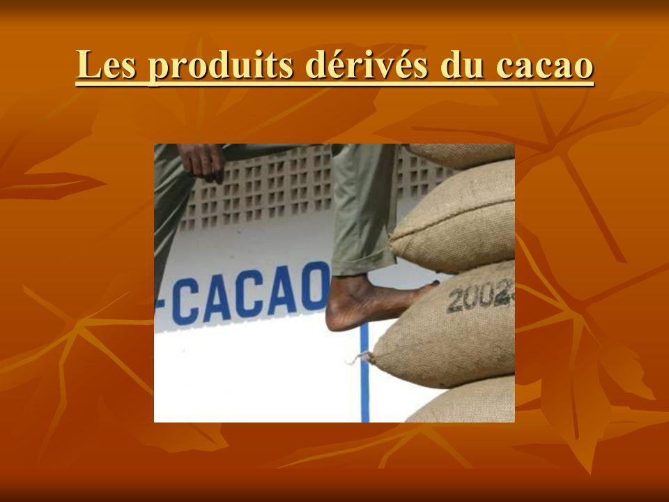 Les produits dérivés du cacao