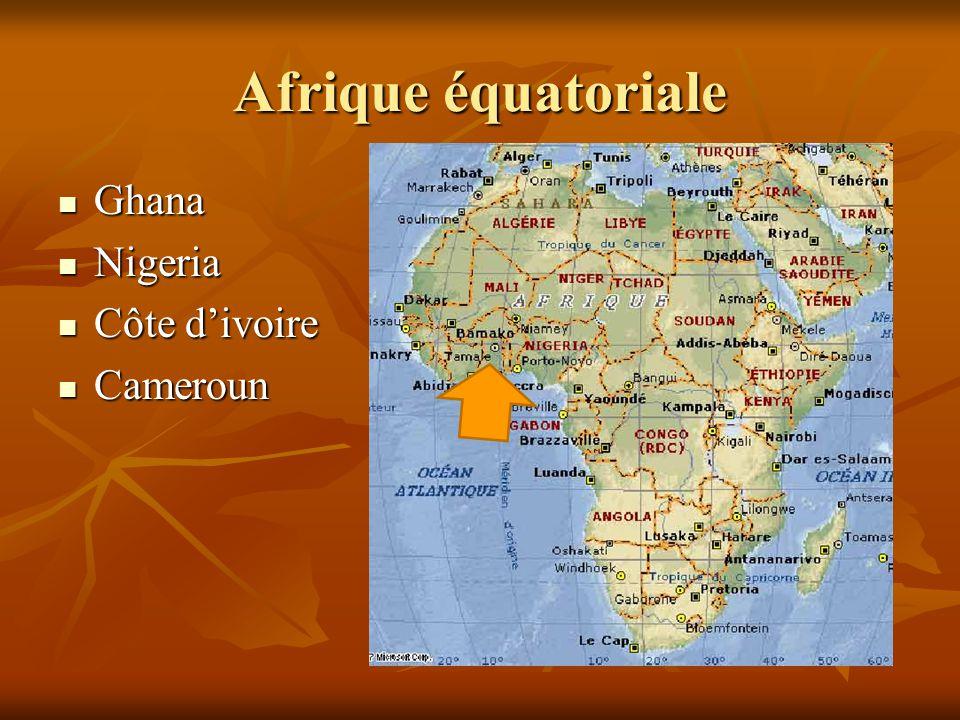 Ghana Ghana Nigeria Nigeria Côte d'ivoire Côte d'ivoire Cameroun Cameroun
