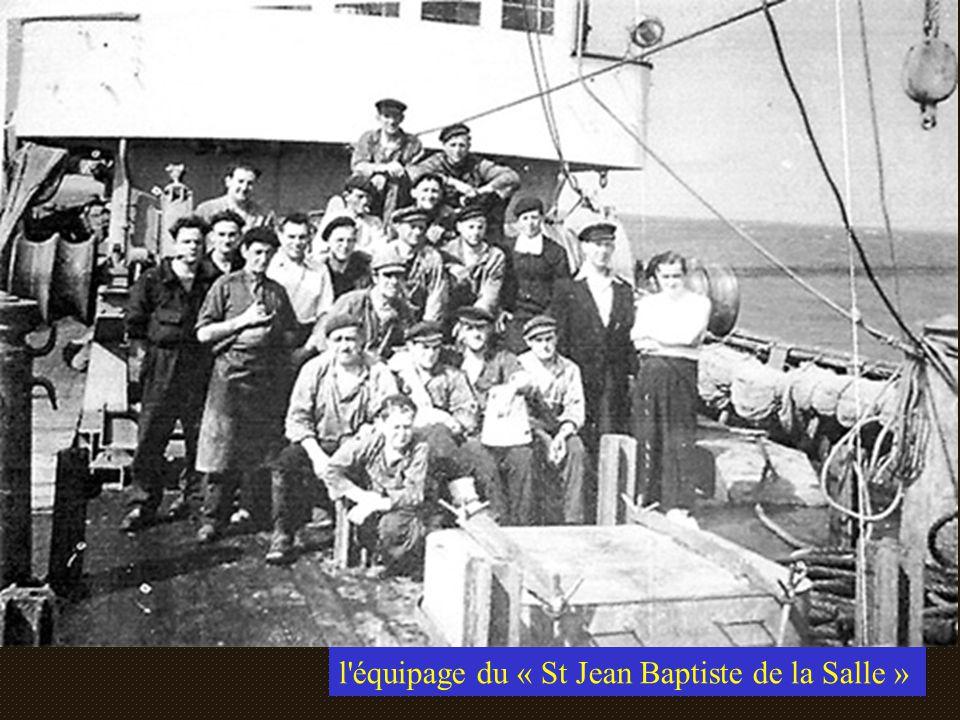 Le « St Jean Baptiste de la Salle » Appartenait au comptoir Boulonnais veuve Fourny Lancé et baptisé le 31 mai 1955 Patron Auguste Calon
