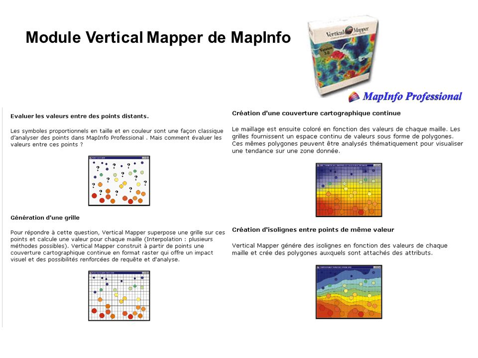Module Vertical Mapper de MapInfo
