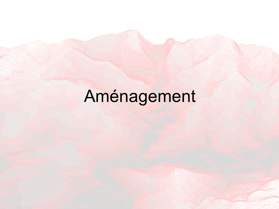 Aménagement