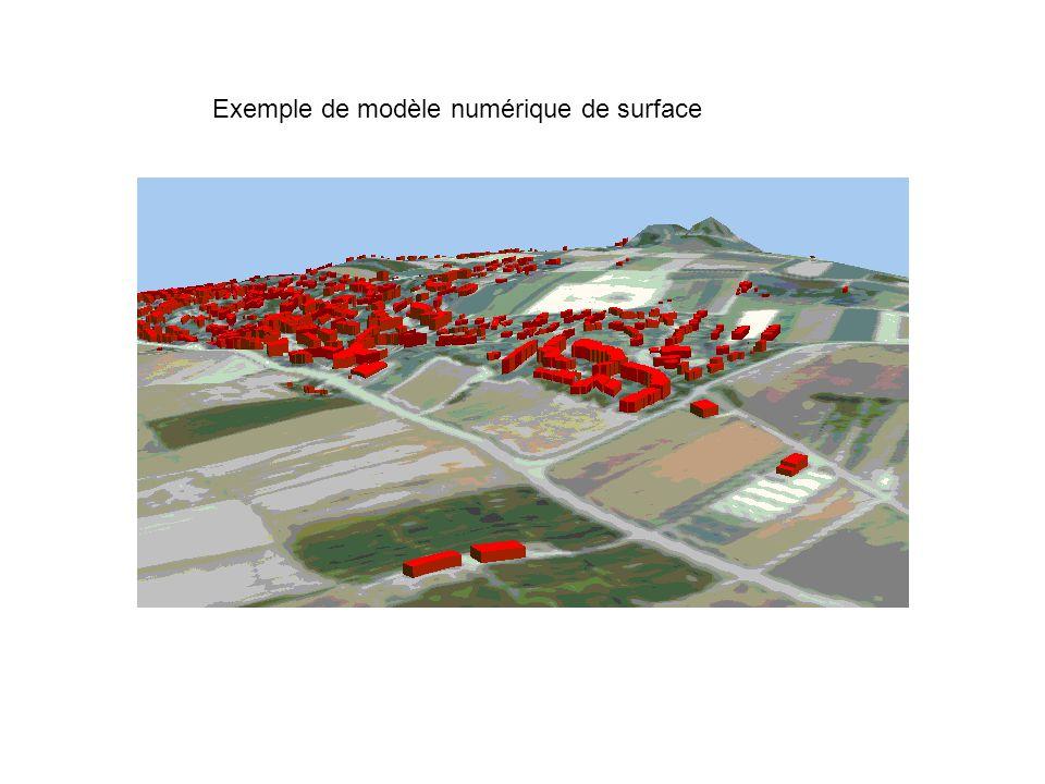 Exemple de modèle numérique de surface