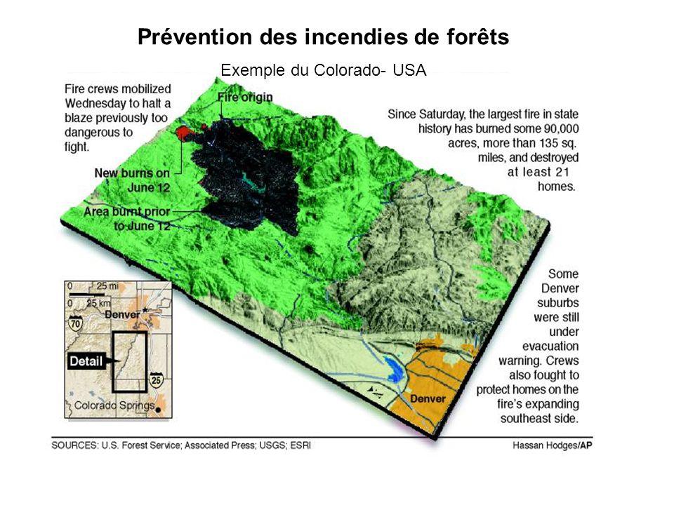 Prévention des incendies de forêts Exemple du Colorado- USA