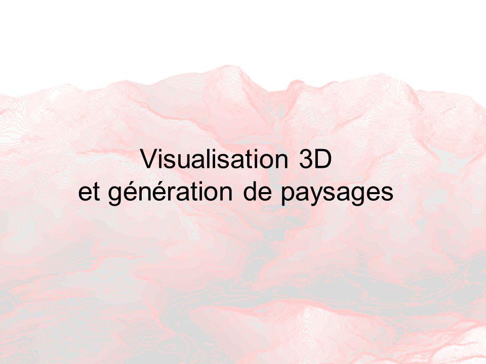 Visualisation 3D et génération de paysages