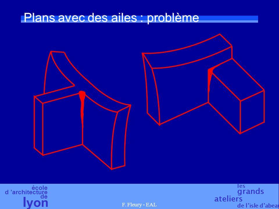 école d 'architecture de l yon les grands ateliers de l'isle d'abeau F. Fleury - EAL Plans avec des ailes : problème