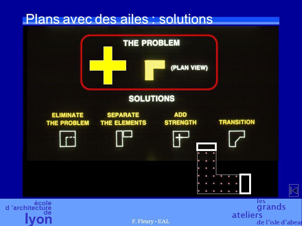 école d 'architecture de l yon les grands ateliers de l'isle d'abeau F. Fleury - EAL Plans avec des ailes : solutions