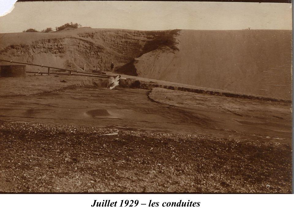 Juillet 1929 – les conduites