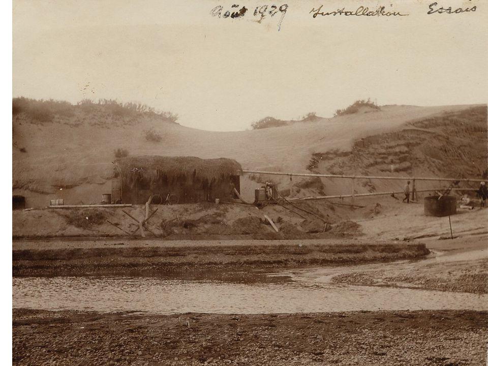 28 avril 1930 : Vue prise de l'entrée de la tranchée Communication partielle établie le 26 mai
