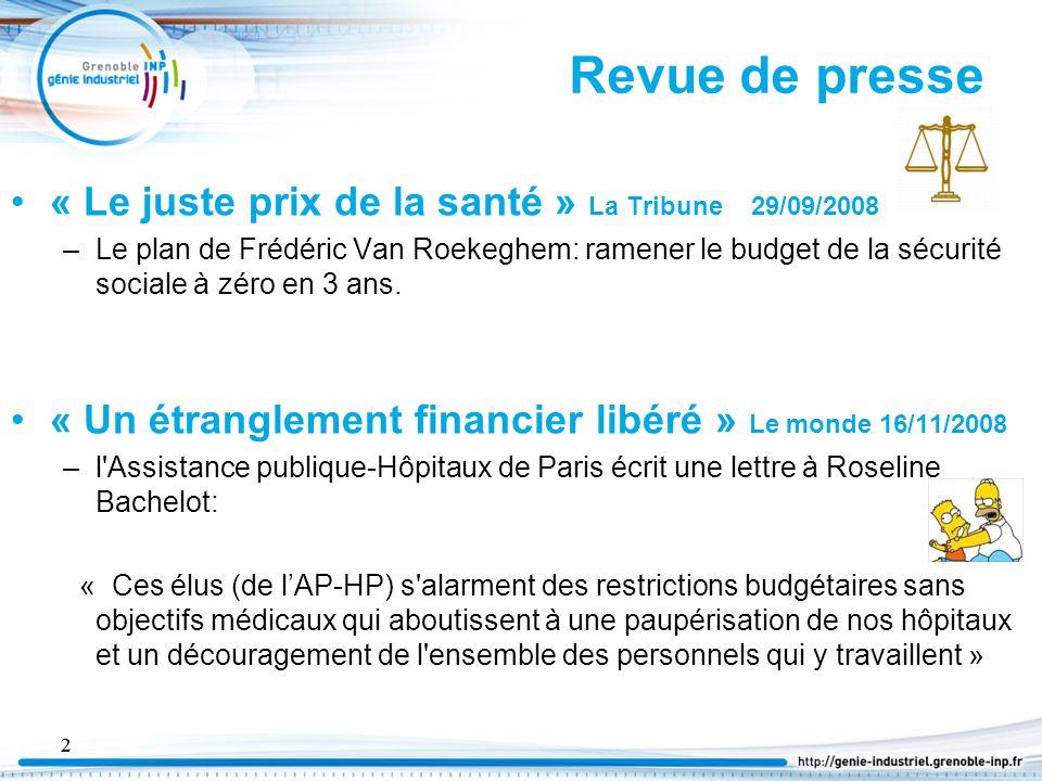 3 Doit-on s'alarmer de l'évolution des dépenses de santé en France.