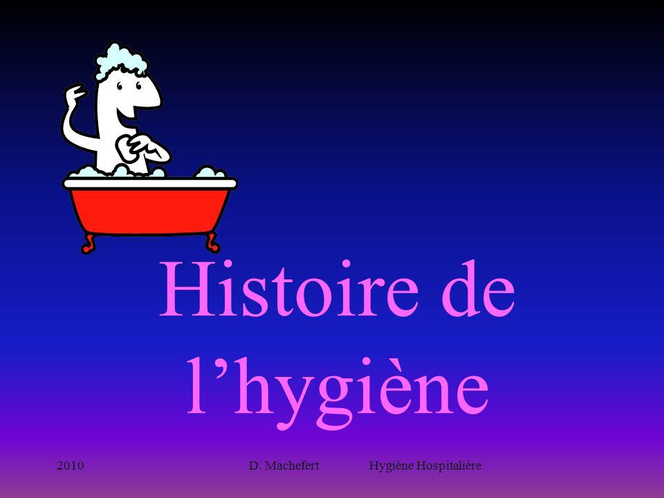 2010D. Machefert Hygiène Hospitalière Histoire de l'hygiène