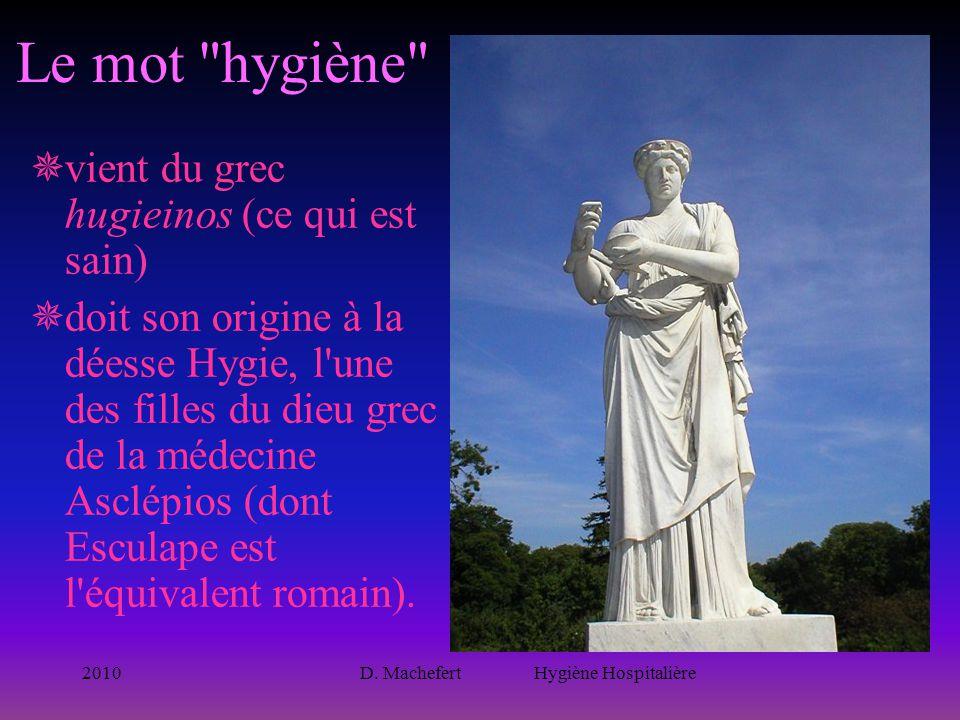 2010D. Machefert Hygiène Hospitalière Le mot