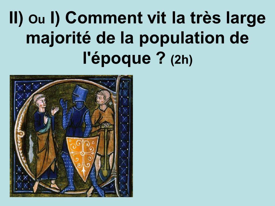 II) Ou I) Comment vit la très large majorité de la population de l'époque ? (2h)