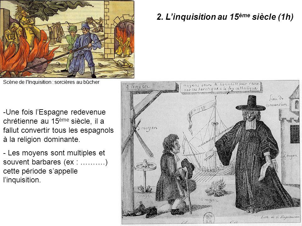 Scène de l'Inquisition : sorcières au bûcher -U-Une fois l'Espagne redevenue chrétienne au 15 ème siècle, il a fallut convertir tous les espagnols à l