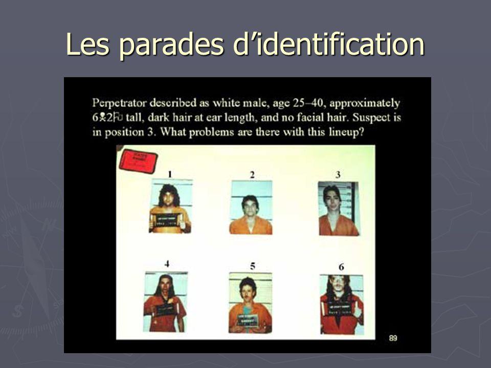 Les parades d'identification