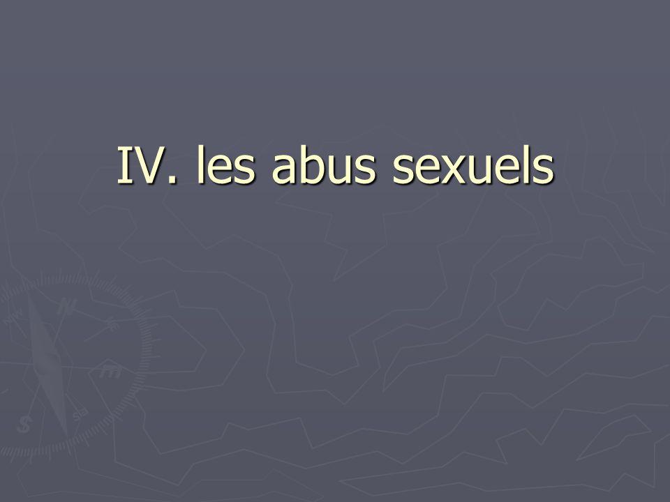 IV. les abus sexuels