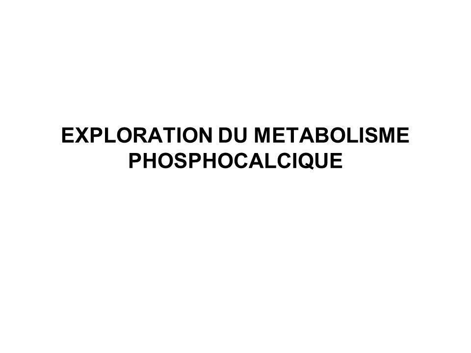 EXPLORATION DU METABOLISME PHOSPHOCALCIQUE