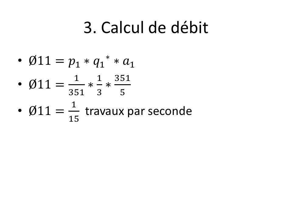 3. Calcul de débit