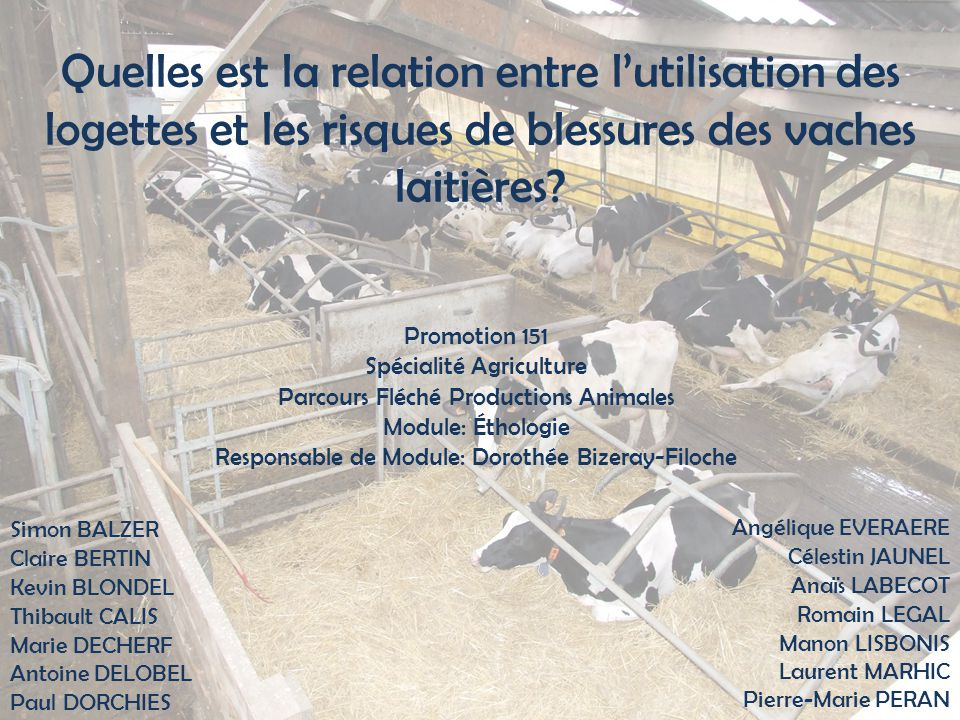 Ethologie 7 juin 201122 II.Matériels et Méthodes 4.
