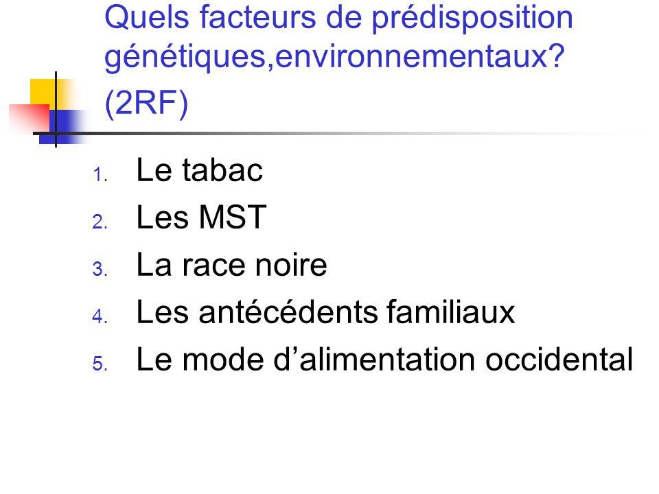 Quels facteurs de prédisposition génétiques,environnementaux.