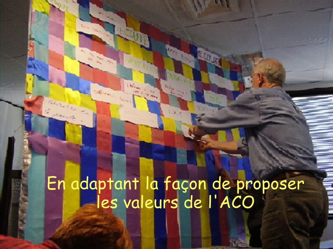 En adaptant la façon de proposer les valeurs de l ACO