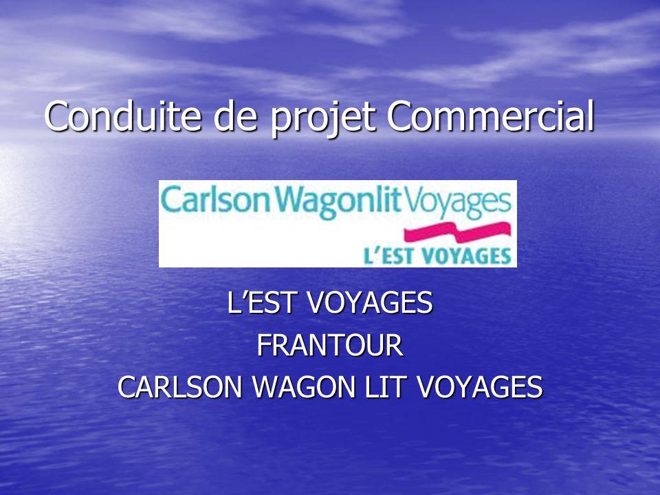 Conduite de projet Commercial L'EST VOYAGES FRANTOUR CARLSON WAGON LIT VOYAGES