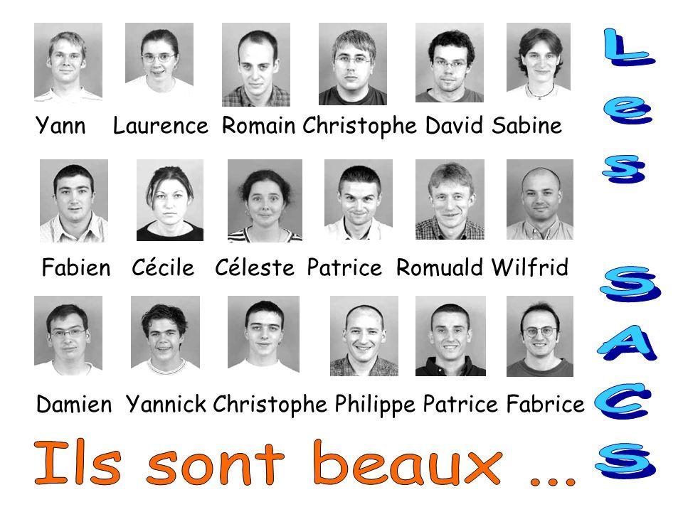 Yann Laurence Romain Christophe David Sabine Fabien Cécile Céleste Patrice Romuald Wilfrid Damien Yannick Christophe Philippe Patrice Fabrice