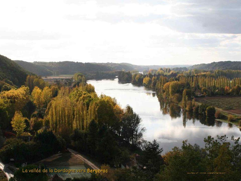 La vallée de la Dordogne vers Bergerac courtesy of : immob Jcdelafontaine.com