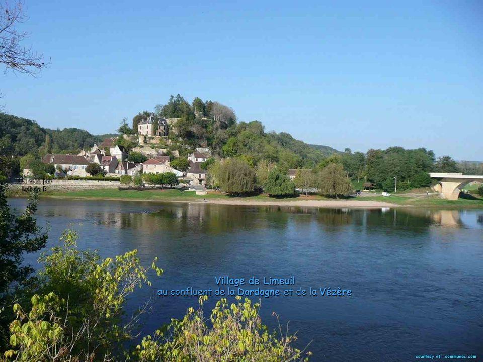 Village de Limeuil au confluent de la Dordogne et de la Vézère