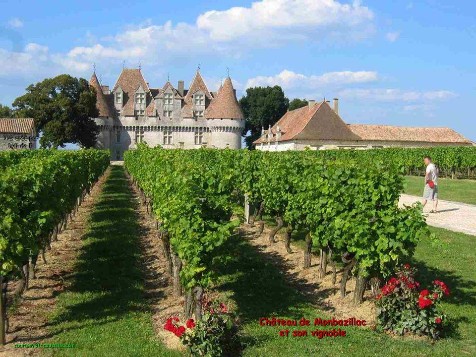 Château de Monbazillac et son vignoble courtesy of: coustillas.com