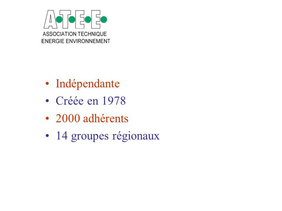 Indépendante Créée en 1978 2000 adhérents 14 groupes régionaux