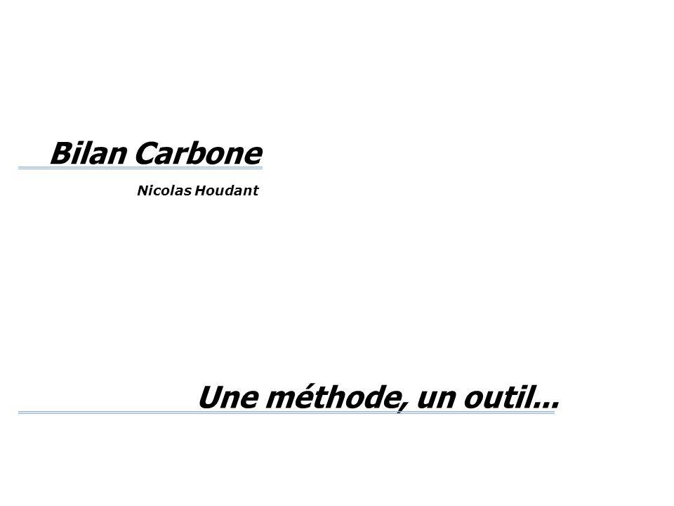 Une méthode, un outil... Bilan Carbone Nicolas Houdant