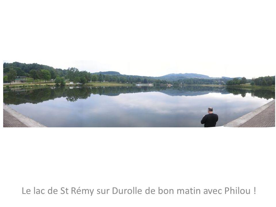 Le lac de St Rémy sur Durolle de bon matin avec Philou !