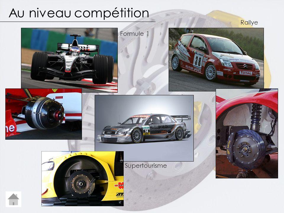 Au niveau compétition Formule 1 Rallye Supertourisme